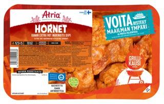Atria Perhetilan Kana Hornet Extra Hot Marinoitu Siipi 900g