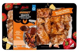 Atria Hornet Snacks Wings & Glaze 750g