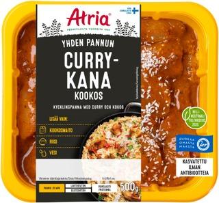 Atria Yhden Pannun Currykana Kookos 500G
