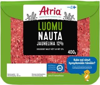 Atria Luomu Nauta Jauheliha 12% 400g