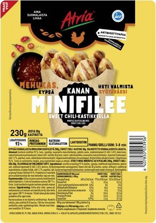 Atria Kanan Minifilee Sweet Chili Kastikkeella 230g
