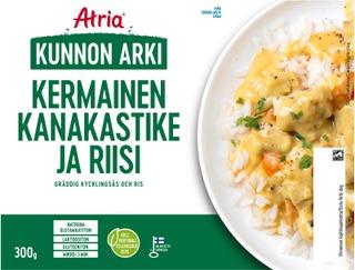 Atria Kunnon Arki Kermainen Kanakastike Ja Riisi 300G