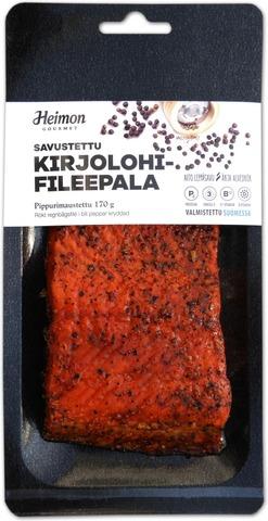 Heimon Gourmet Savustettu kirjolohifileepala pippurimaustettu 170 g