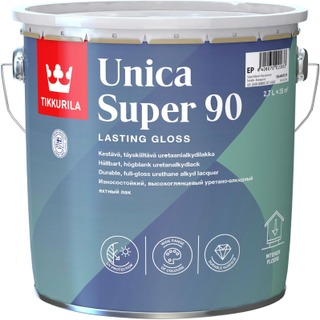 Tikkurila Unica Super 90 Uretaanialkydilakka 2,7L Kiiltävä Sävytettävä