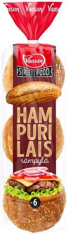 Vaasan Street Food Hampurilaissämpylä Classic 480 G 6 Kpl