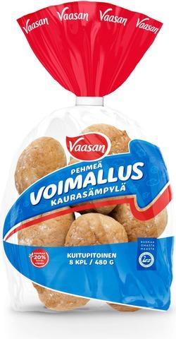 Vaasan Voimallus Kaurasämpylä  Kaurainen Sämpylä 480 G 8 Kpl