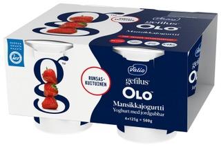 Valio OLO jogurtti 4x125 g mansikka laktoositon