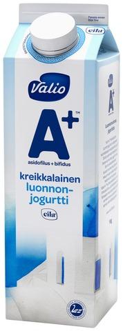 Valio A+ Kreikkalainen Luonnonjogurtti 1 Kg Laktoositon