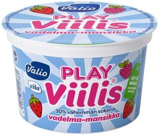 Valio Play Viilis 200 G Vadelma-Mansikka Laktoositon