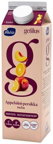 Valio Gefilus mehu 1 l appelsiini-persikka+kuitu