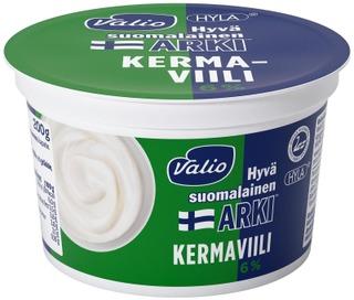 Valio Hyvä Suomalainen Arki Kermaviili 6 % 200 G Hyla