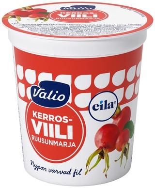 Valio Kerrosviili 1 % 200 G Ruusunmarja Laktoositon