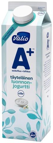 Valio A+ Luonnonjogurtti 1 Kg Täyteläinen Laktoositon