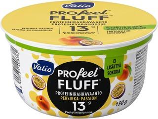 Valio Profeel Fluff Proteiinirahkavaahto Sokeroimaton 130 G Persikka-Passiohedelmä Laktoositon