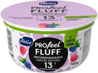 Valio Profeel Fluff Proteiinirahkavaahto Sokeroimaton 130 G Vadelma-Mustikka Laktoositon