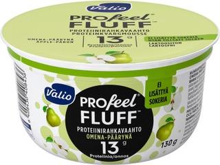 Valio Profeel Fluff Proteiinirahkavaahto Sokeroimaton 130 G Omena-Päärynä Laktoositon