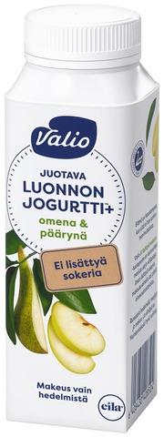Valio Luonnonjogurtti+ juotava 2,5 dl omena & päärynä laktoositon
