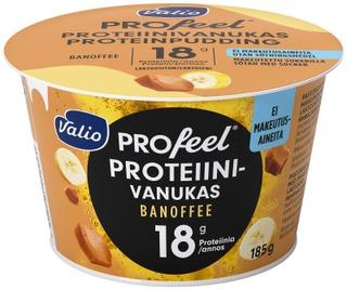 Valio Profeel Proteiinivanukas 185 G Banoffee Makeutusaineeton Laktoositon