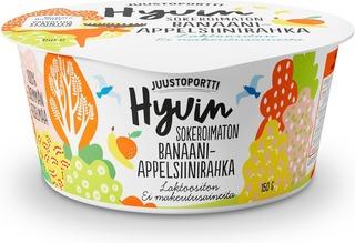 Juustoportti Hyvin Sokeroimaton Rahka 150 G Banaani-Appelsiini Laktoositon
