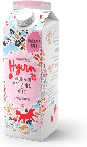 Juustoportti Hyvin Sokeroimaton Vadelma-Mansikkakeitto 1 Kg