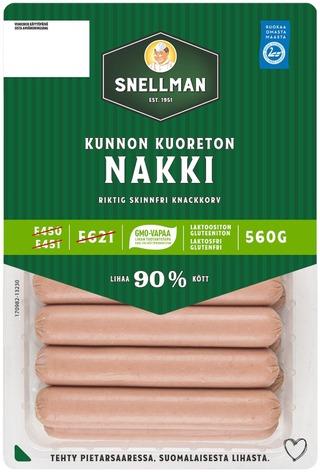 Snellman Kunnon Kuoreton Nakkimakkara 560G