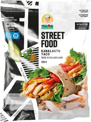 Snellman Street Food Taco Kanalastu 200G