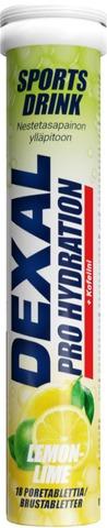 Dexal Pro Hydration Sitruuna-Limetti-Kofeiini Poretabletti 18Kpl Ravintolisä