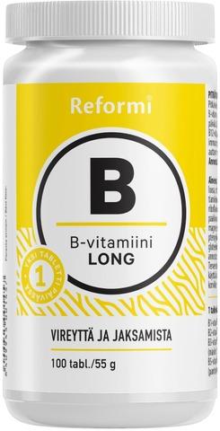 Reformi B-vitamin Long 100tabl ravintolisä