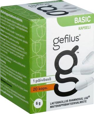 Gefilus Basic Kapseli Maitohappobakteerivalmiste 20Kaps 7G Ravintolisä