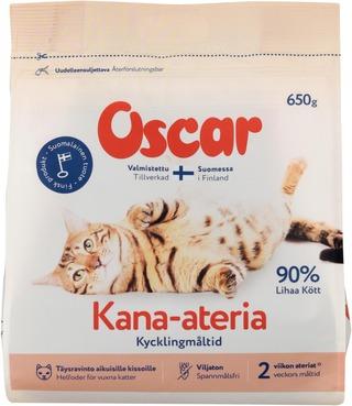 Oscar Kana-ateria kissoille täysravinto 650g