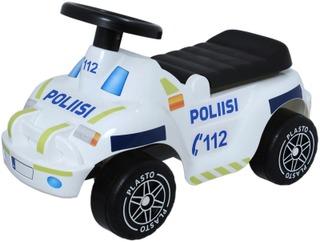 Plasto Offroad Poliisiauto Potkuauto Hiljaiset Pyörät