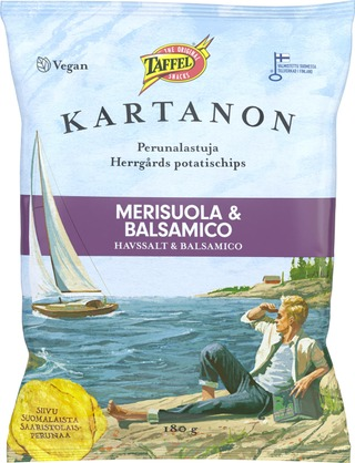 Taffel Kartanon Merisuola Balsamico Maustettu Perunalastu 180G