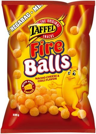Taffel Fire Balls maustettu juustosnacks 235g