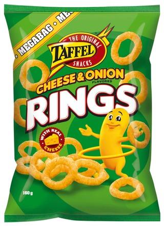 Taffel Cheese Onion Rings maustettu maissirengas 160g