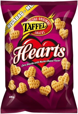 Taffel Hearts Maustettu Maissisnacks 235G