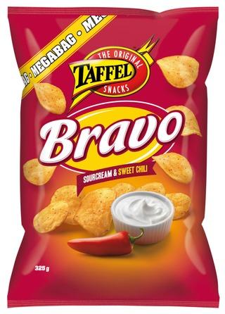 Taffel Bravo ranskankerma makea chili maustettu perunalastu 325g