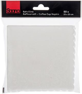 Saana kahviliina 23cm valkoinen 50kpl