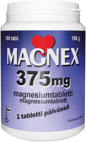 Magnex 375 mg + B6 70 tabl., magnesium-B6-vitamiinitabletti, Vitabalans