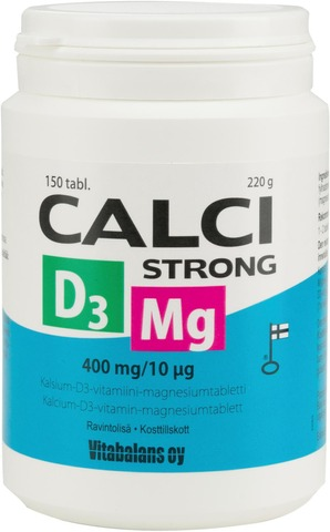 Kalsium-D3-Vitamiini-Magnesiumtabletti