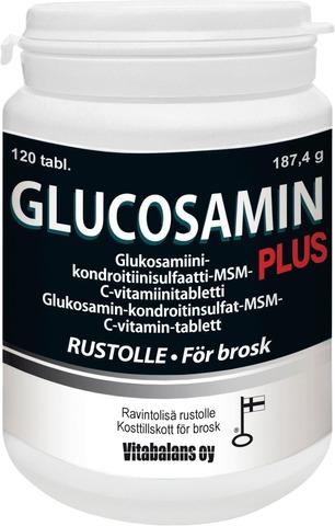 Vitabalans 187g Glukosamin Plus glukosamiini-kondroitiinisulfaatti-MSM-C-vitamiinitabletti 120kpl