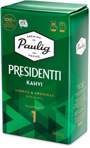 Presidentti 500G Hienojauhettu Kahvi Utz