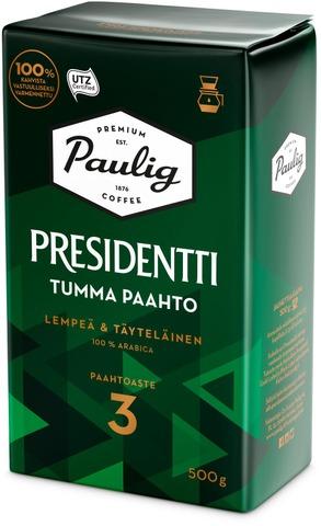 Presidentti Tumma Paahto 500G Suodatinjauhettu Kahvi Utz