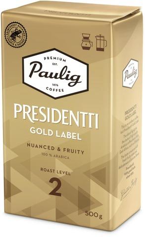 Presidentti Gold Label 500G Hienojauhettu Kahvi Utz