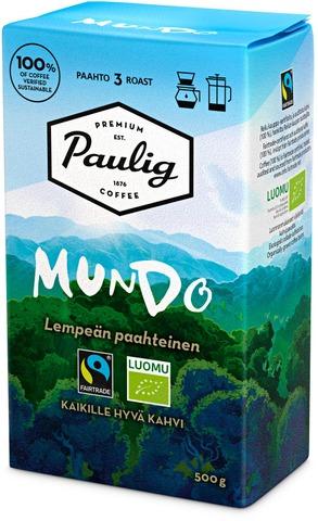 Paulig Mundo 500G Hienojauhettu Kahvi Reilu Kauppa, Luomu