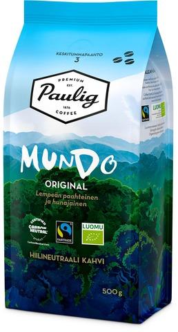 Paulig Mundo 500G Papukahvia Reilu Kauppa, Luomu