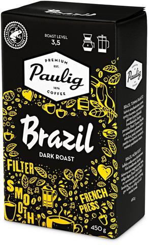 Brazil Dark Roast 450g hienojauhettu kahvi UTZ