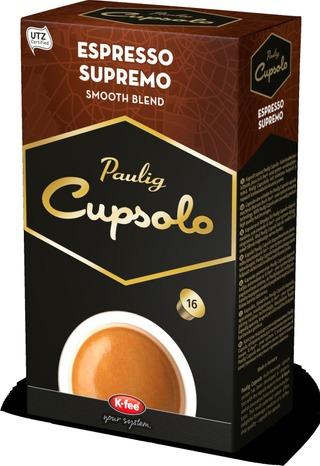 Paulig Cupsolo Espresso Supremo Utz 16Kpl Paahdettua, Jauhettua Kahvia