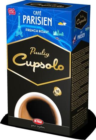 Paulig Cupsolo Café Parisien Utz 16Kpl Paahdettua, Jauhettua Kahvia