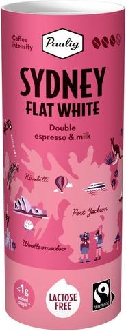Paulig Sydney Flat White 235 ml laktoositon maitokahvijuoma, Reilu kauppa