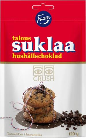 Fazer Taloussuklaa Crush 120G Tumma Suklaarouhe Leivontaan Ja Jälkiruokiin